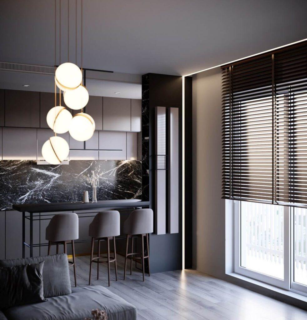 60-metrowe monochromatyczne mieszkanie projektu Anny Ejsmont