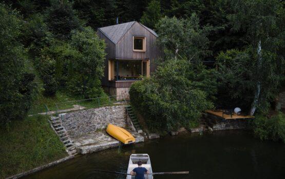 Domek w stylu marynistycznym projektu Prodesi/Domesi