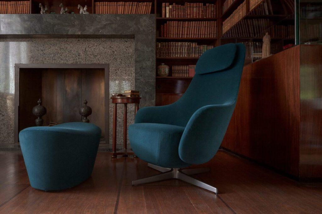 Meble od B&B Italia – esencja włoskiego designu - Fotel Harbor Laidback