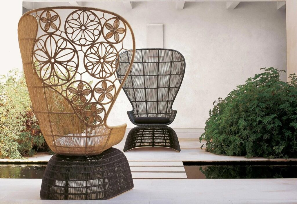 Meble od B&B Italia – esencja włoskiego designu- Fotel Crinoline