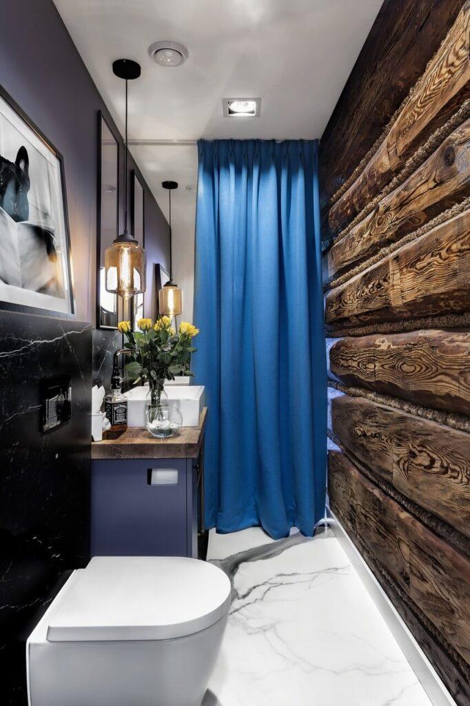 Wnętrze drewnianego domu po babci - projekt Landi Projekt - foto Daniel Redish