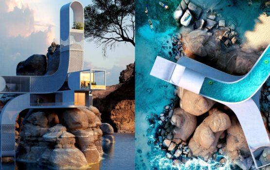 Sinuous House – trochę matematyki nad morzem