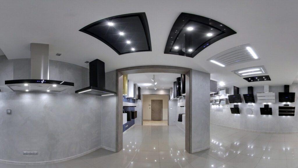Wirtualny showroom z okapami kuchennymi Nortberg